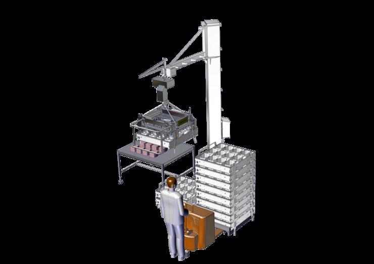 CAO - Handling - Multimolds™ - Semi-Manual Demolding with Rotative Hoist