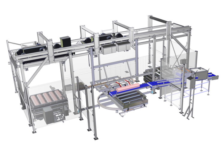 CAO - Handling - Multimolds™ - Semi-Automatic Log & Deli Loader with Automatic transfer of Multimolds™